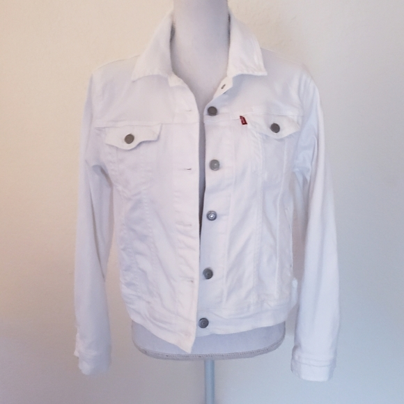 Levi Strauss Women's White Denim Jacket